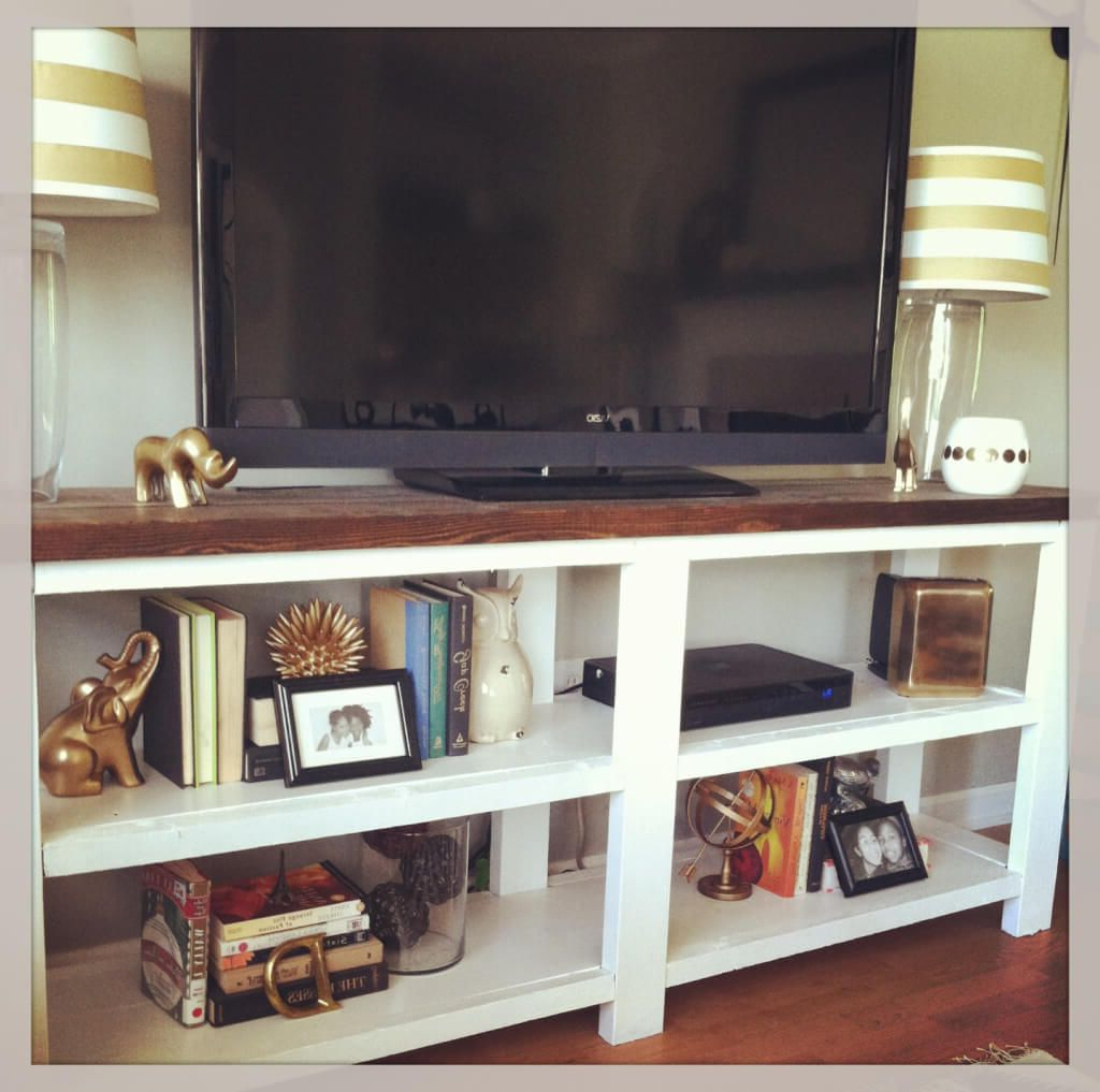 Famous Furniture: Splendid White Rustic Wooden Diy Tv Stand Featuring Brown With Regard To Rustic White Tv Stands (View 6 of 20)