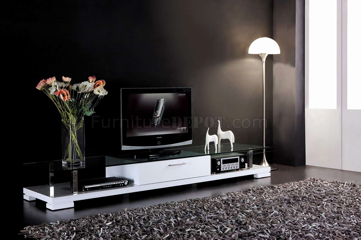 Famous Glass Tv Stands For Flat Screens Elegant Top 15 Of White Modern Within Wood Tv Stands With Glass Top (Gallery 7 of 20)