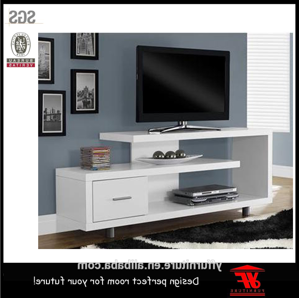 Famous High Gloss White Simple Wood Tv Cabinet Modern Lcd Tv Stand Showcase In Gloss White Tv Cabinets (View 15 of 20)