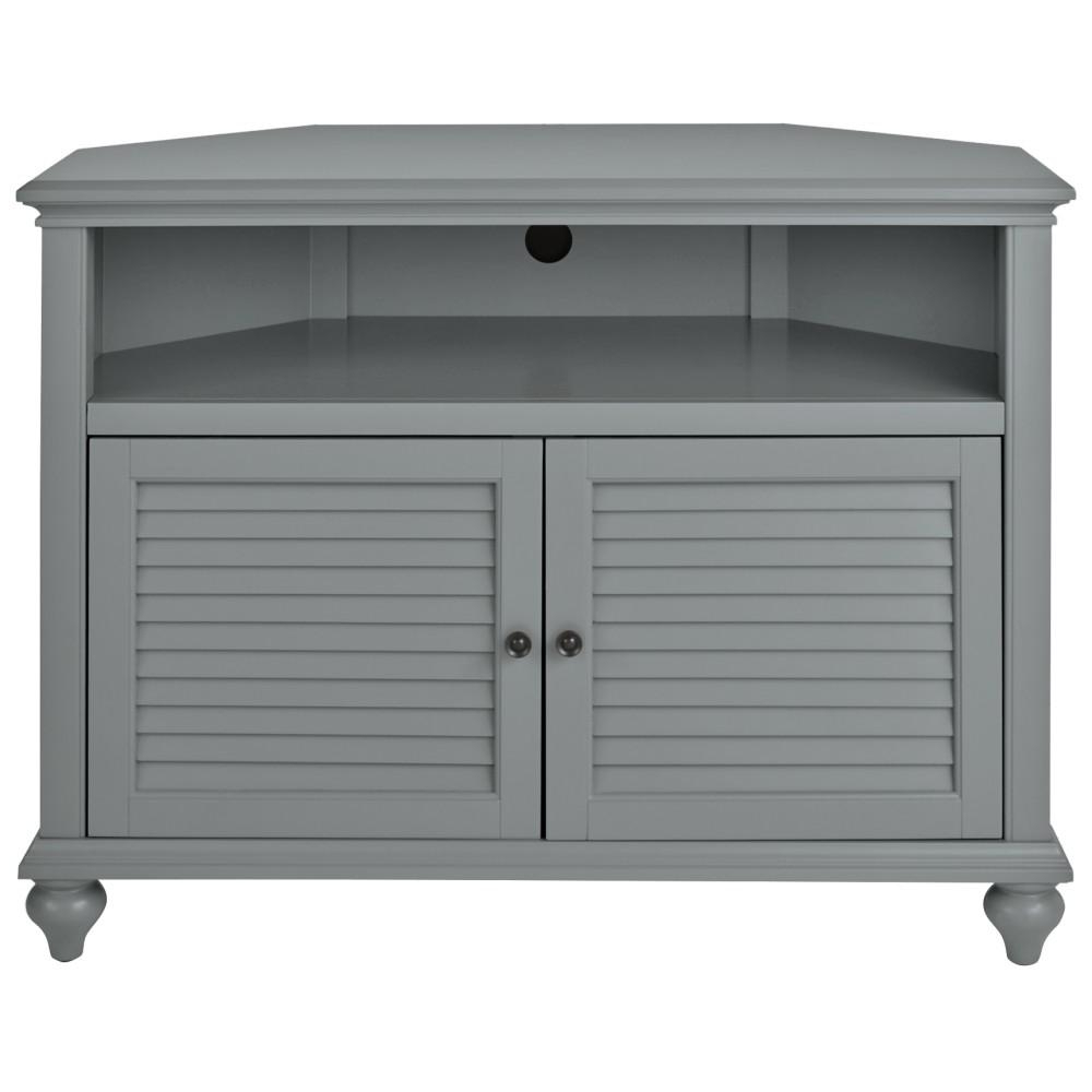 Famous Home Decorators Collection Hamilton 31 In. H Grey Highboy Corner Tv For White Wood Corner Tv Stands (Gallery 15 of 20)