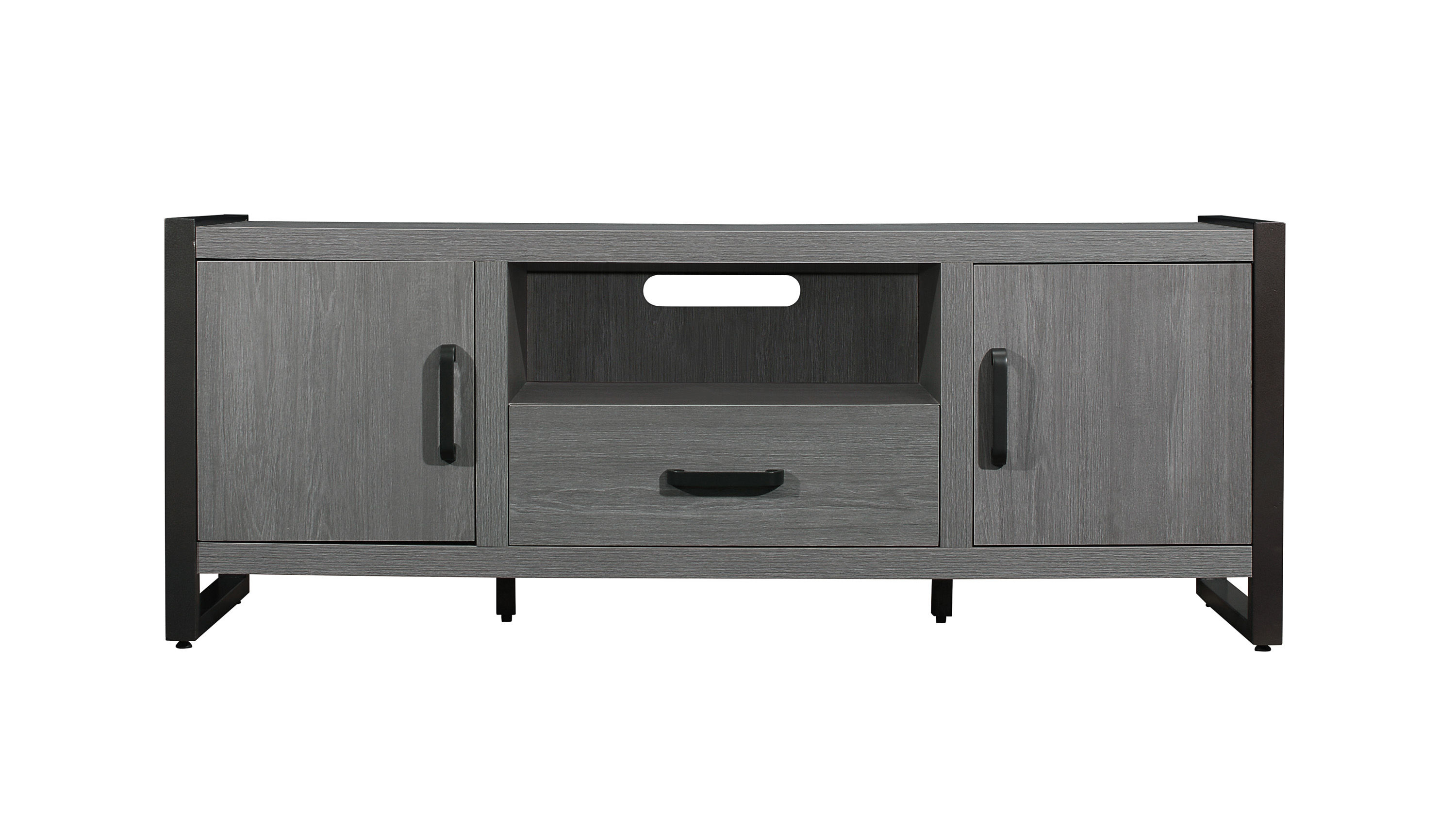 Famous Home Elegance Dogue Gunmetal 63 Inch Tv Stand (View 3 of 20)