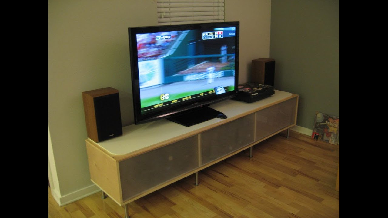 Famous How To Put A Tv On A Tv Stand !!! – Youtube Within Turntable Tv Stands (Gallery 2 of 20)