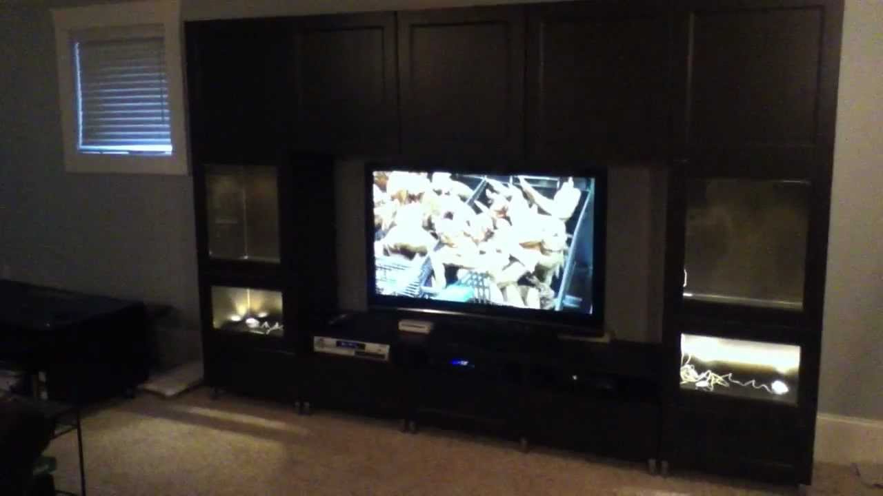 Famous Ikea Besta Large Entertainment Center Project And Assembly Tips Throughout Big Tv Cabinets (View 6 of 20)