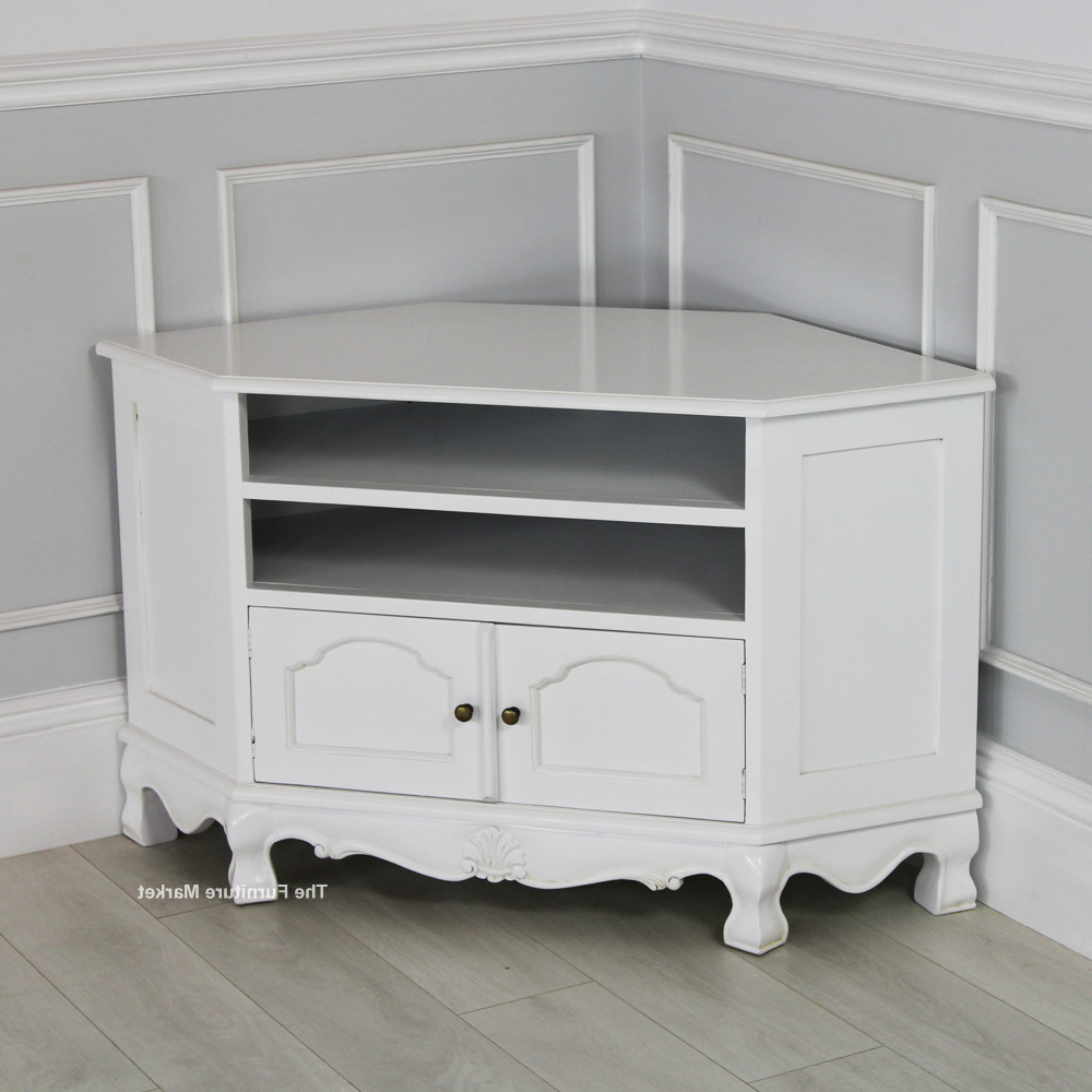 Famous Image Of White Corner Tv Stand Uncategorized, Corner – Furnish Ideas With Regard To White Small Corner Tv Stands (Gallery 1 of 20)