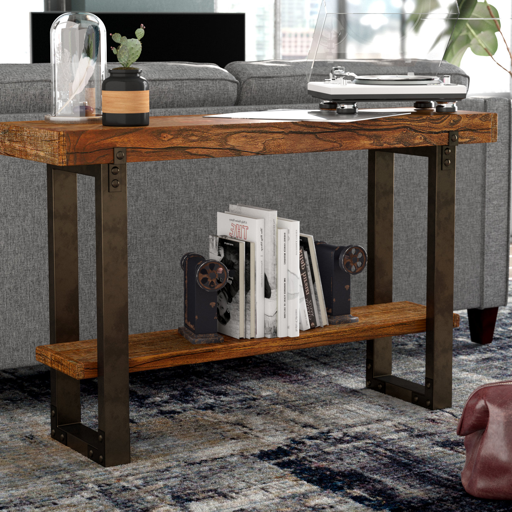 Famous Industrial Console Tables You'll Love (Gallery 3 of 20)