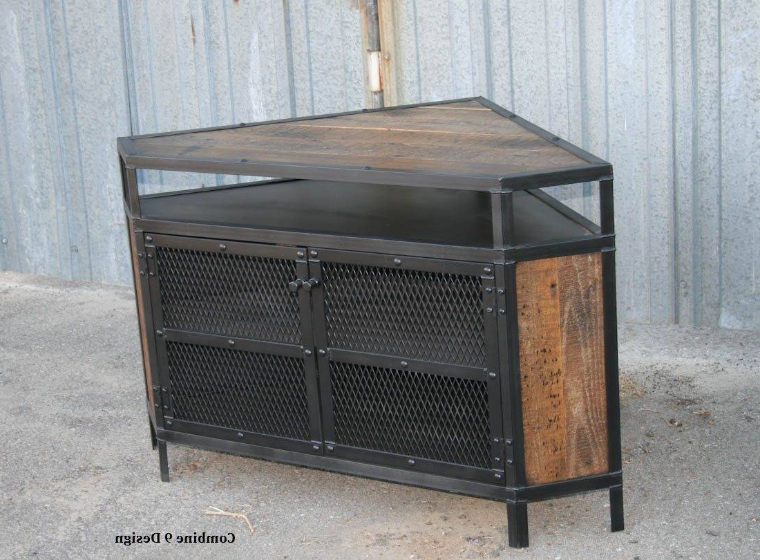 Famous Industrial Corner Tv Stands With Regard To Diy Industrial Tv Stand Beautiful Corner Tv Shelf Unit Lovely Corner (View 5 of 20)