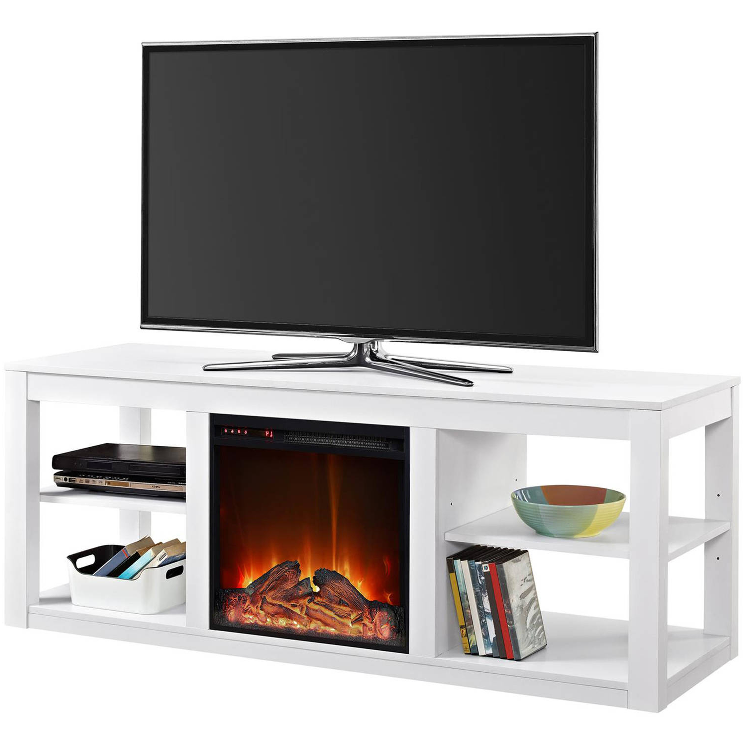 Famous Kilian Grey 49 Inch Tv Stands Pertaining To Ameriwood Home Parsons Electric Fireplace Tv Stand For Tvs Up To (View 7 of 20)