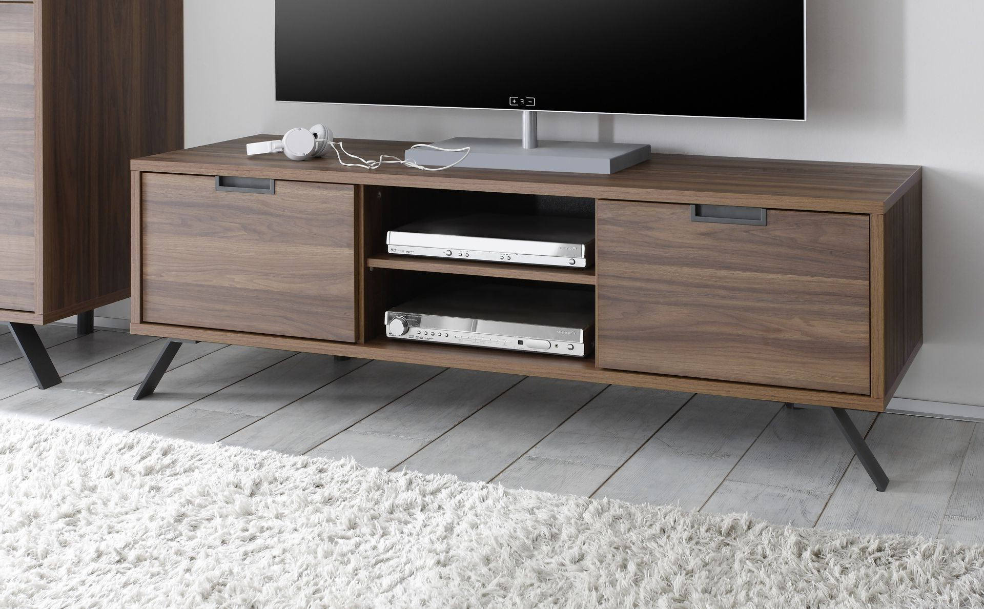 Famous Luxury Tv Stands For Walnut Color Wooden Tv Stand. Beautiful Walnut Finish Makes It (Gallery 17 of 20)