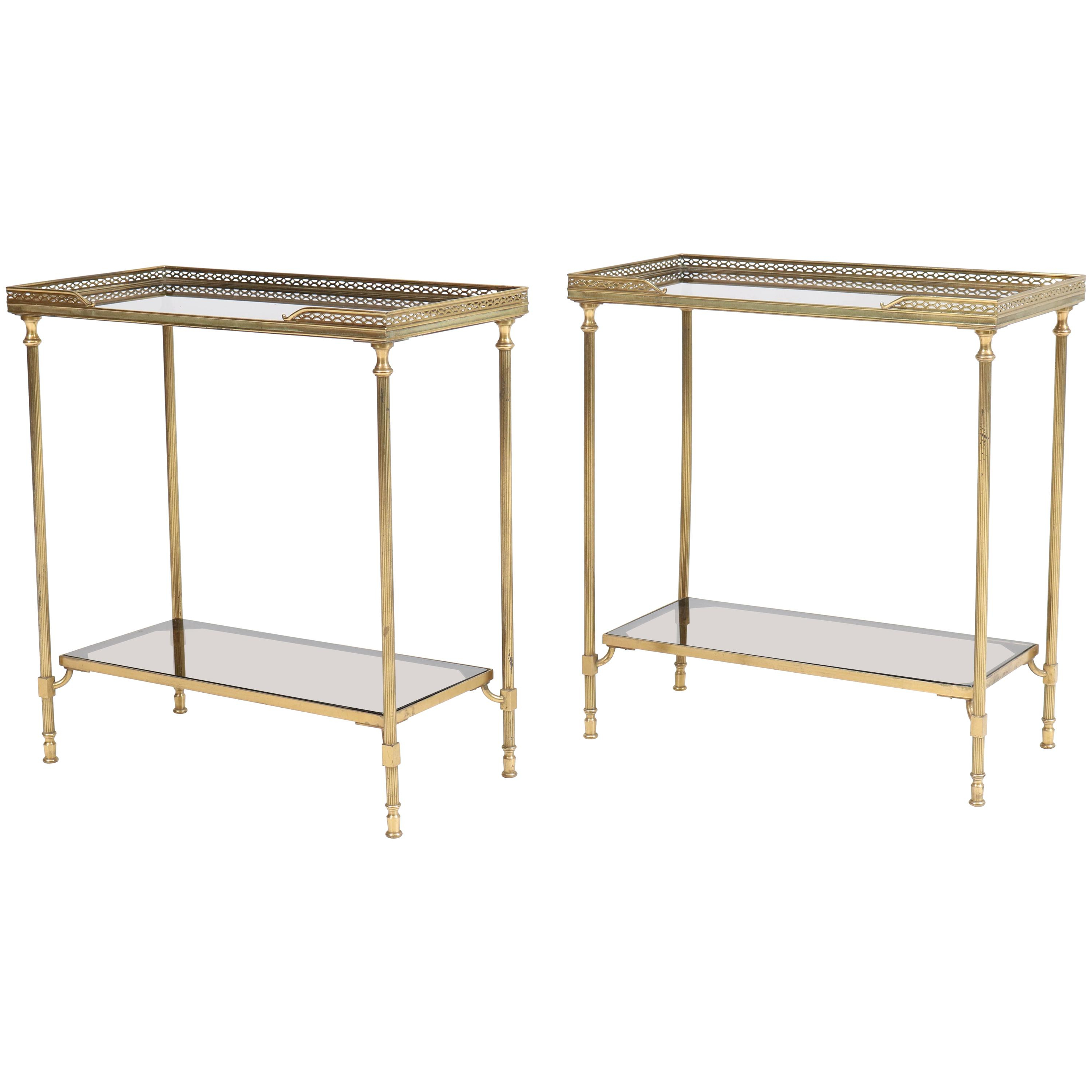 Famous Maison Jansen Side Tables – 65 For Sale At 1stdibs Intended For Mix Leather Imprint Metal Frame Console Tables (View 19 of 20)
