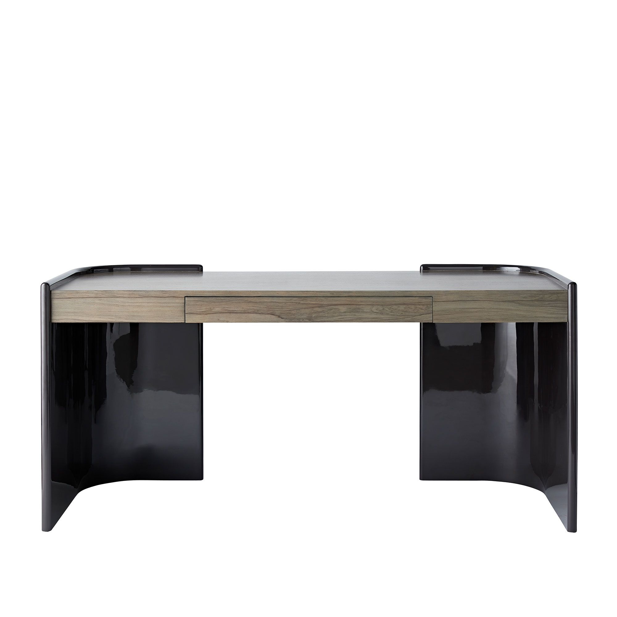 Famous Parsons Clear Glass Top & Stainless Steel Base 48X16 Console Tables Within Bette Leather Ottoman, , Hi Res (View 4 of 20)