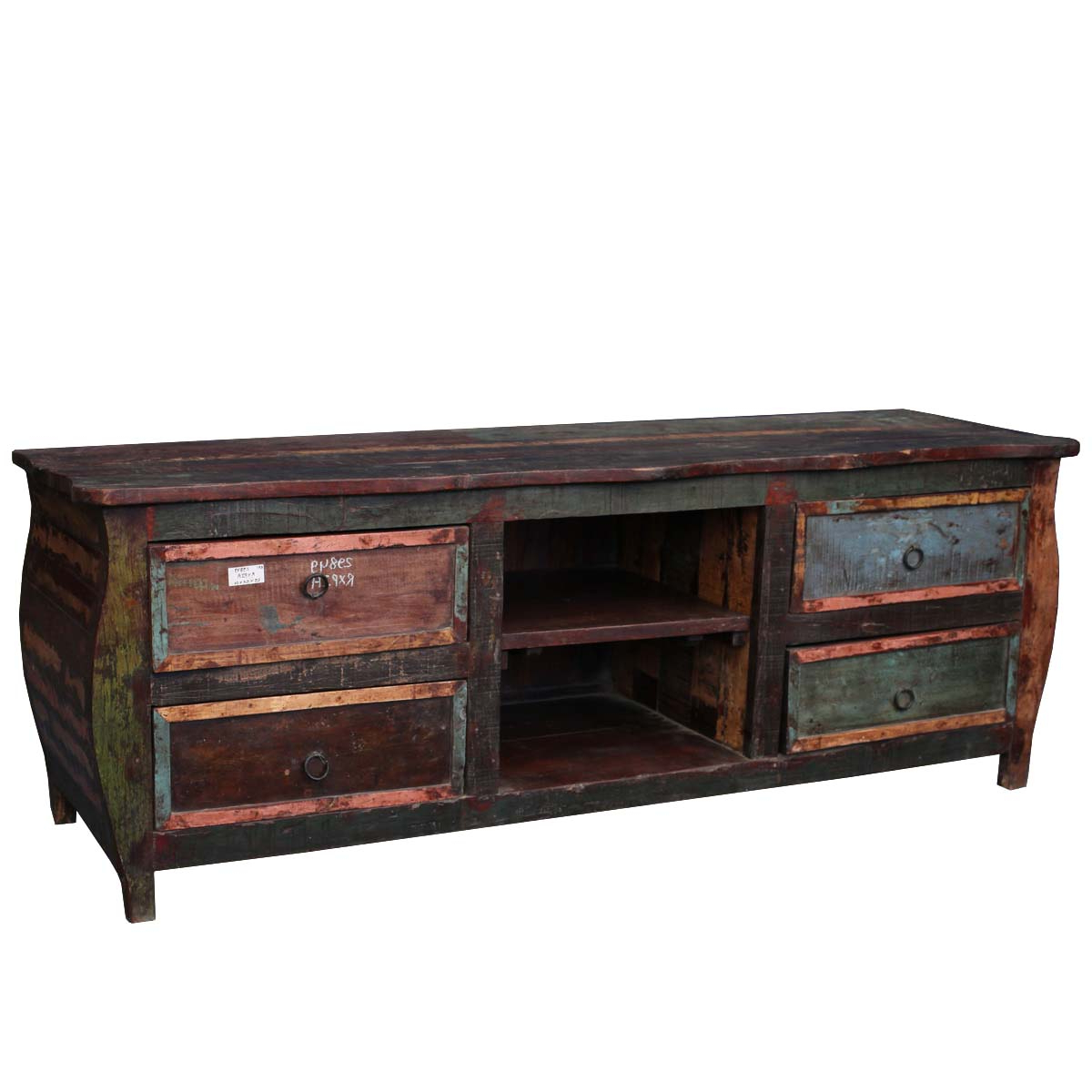 Famous Reclaimed Wood Furniture Rustic Hepplewhite Tv Stand Media Console With Clear Acrylic Tv Stands (View 12 of 20)
