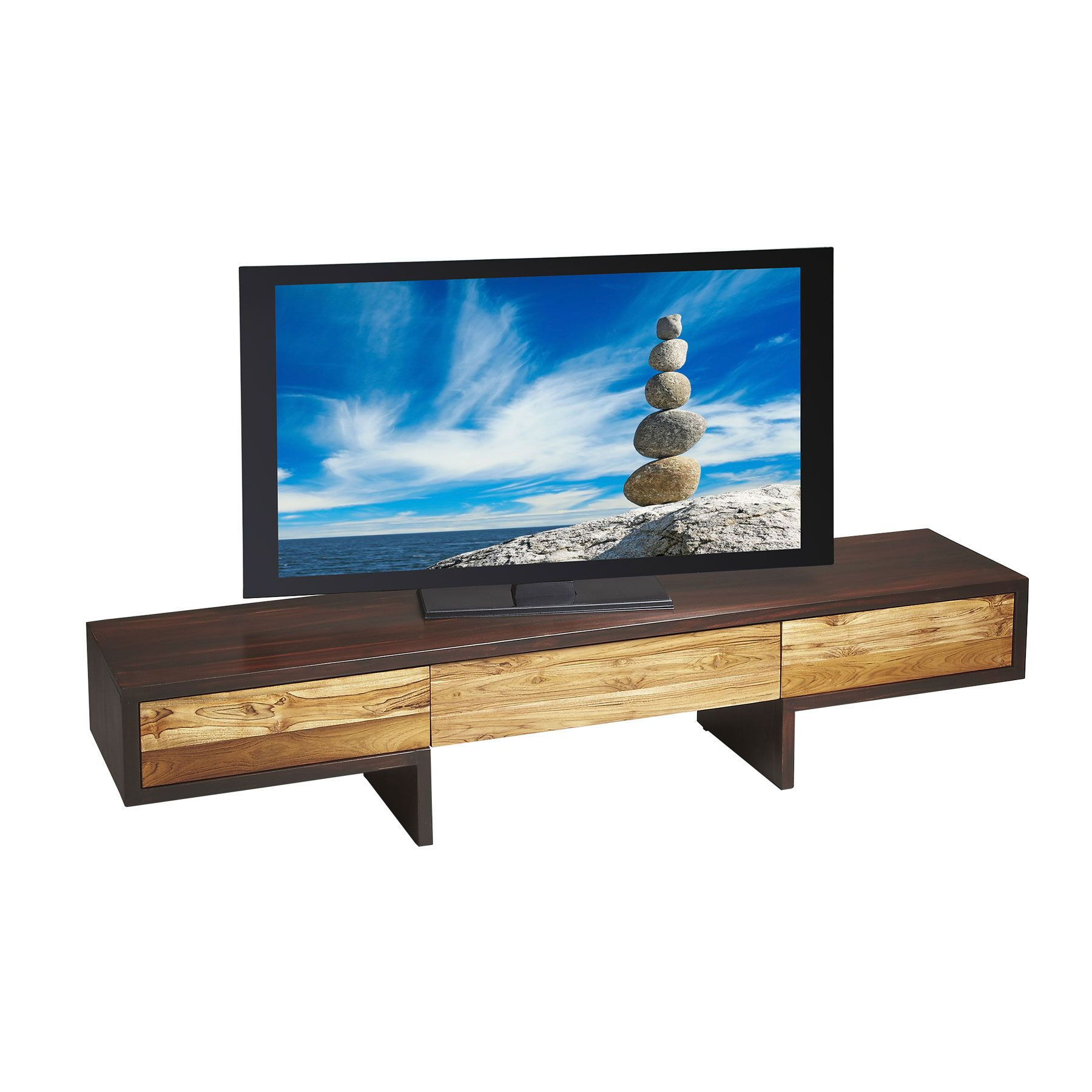 Famous Recycled Wood Tv Stands Pertaining To This Low Slung Entertainment Center Is A Marriage Of Opposites (Gallery 14 of 20)