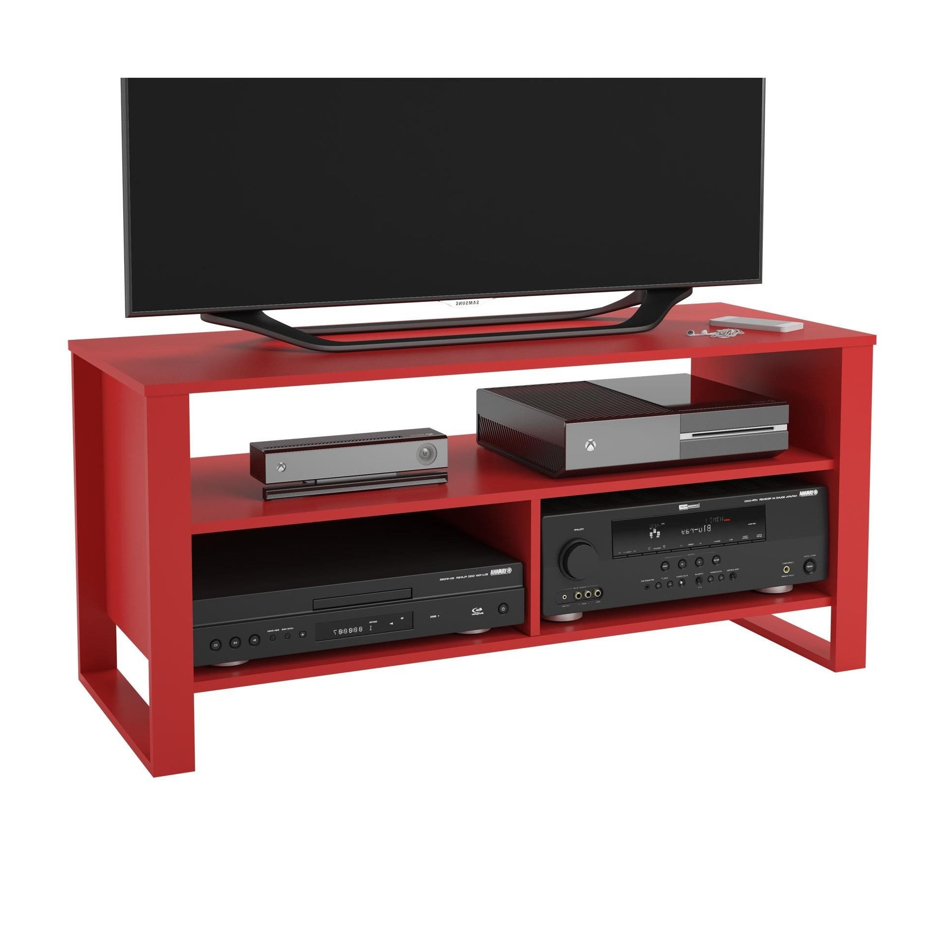 Famous Shop Ameriwood Home Reese Ruby Red Tv Stand – Free Shipping Today Within Red Tv Stands (View 8 of 20)