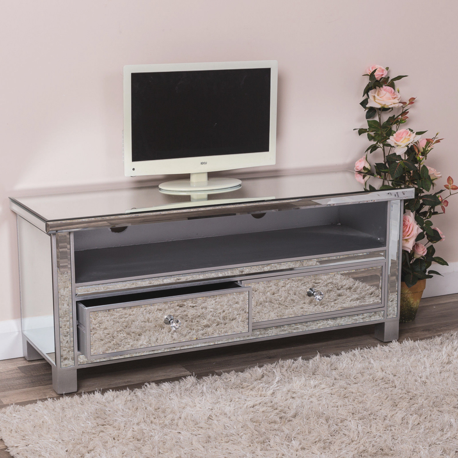 Famous Silver Tv Stands – Carolinacarconnections Regarding Silver Tv Stands (View 4 of 20)