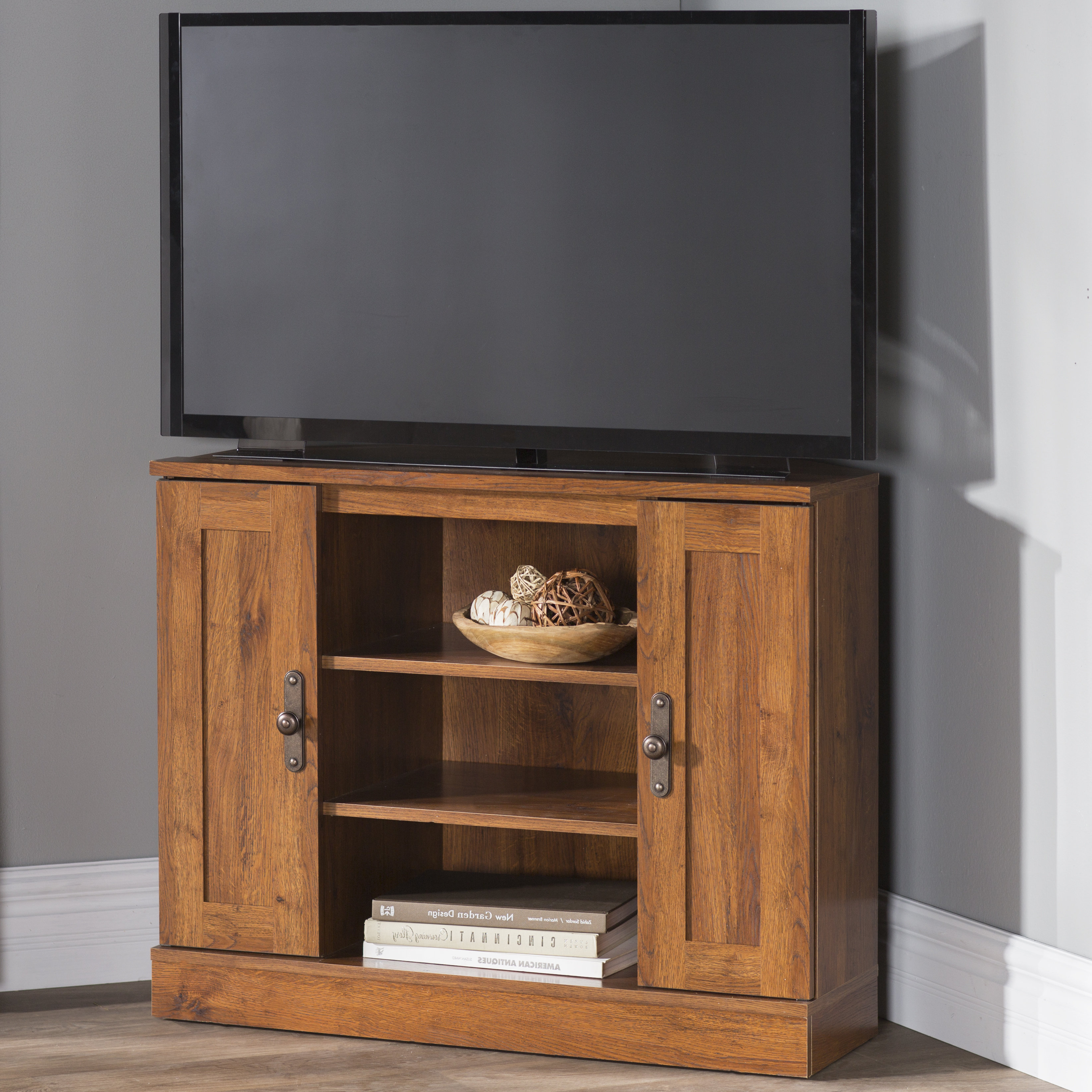 "Famous Triangular Tv Stands Intended For Alcott Hill Englewood Corner Tv Stand For Tvs Up To 37"" & Reviews (View 2 of 20)"