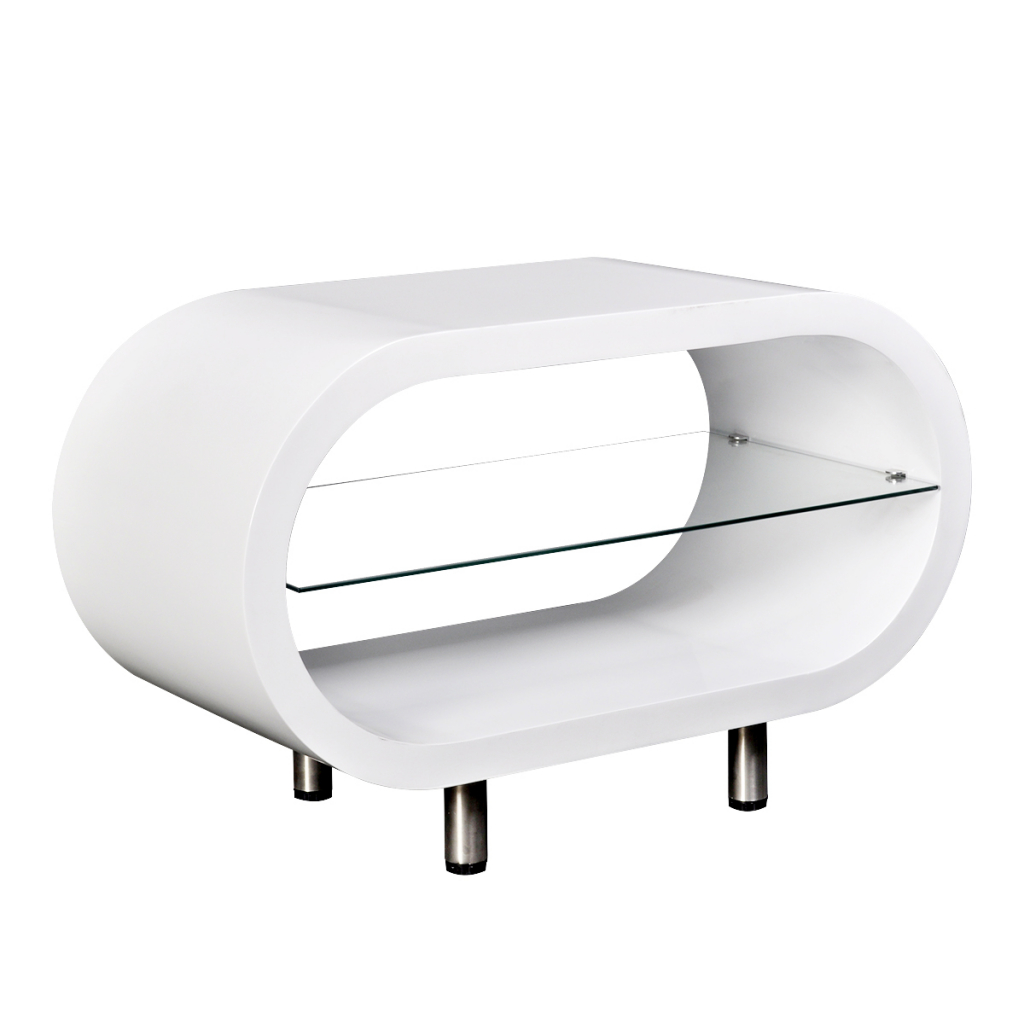 Famous White Gloss Oval Tv Stands With Modern Designer High Gloss White Tv Stand Entertainment Glass (View 9 of 20)