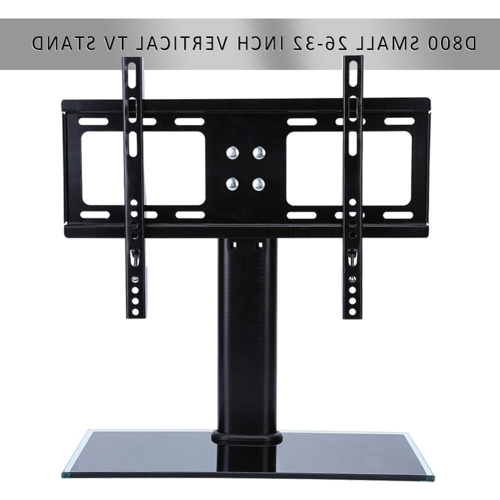 Fashionable 32 Inch Tv Stands Regarding Flat Screen Bracket 26 32 Inch Led Lcd Tv Stand Mount Bracket Glass (View 15 of 20)