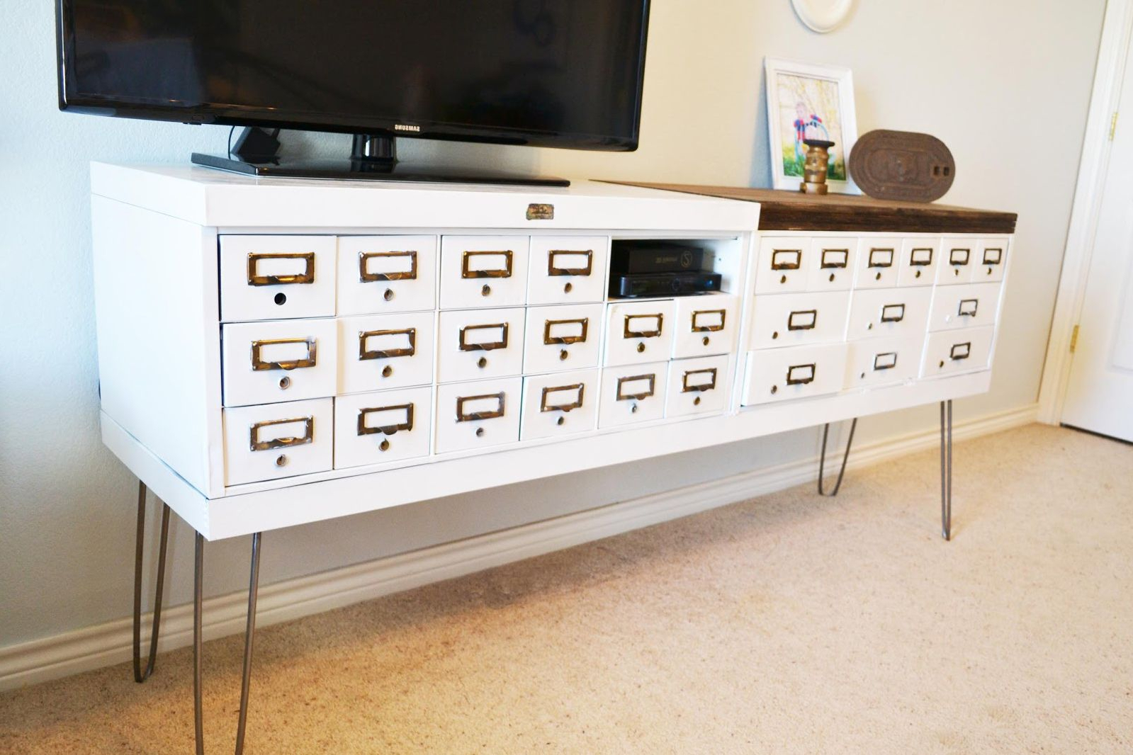 Fashionable 7 Ways To Make Your Own Tv Stand To Hide Ugly Cable Boxes And Wires With Small White Tv Cabinets (View 5 of 20)