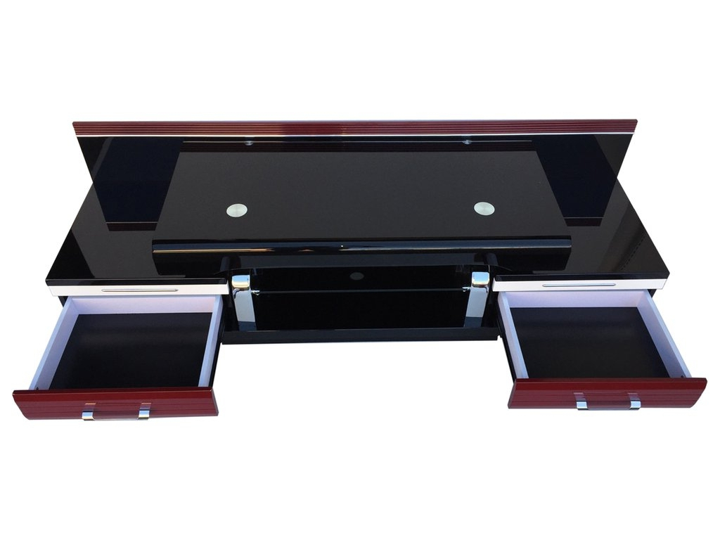 Fashionable Black Opod Tv Stands Intended For Supreme Red Black 42 Inch Tv Stand Rta Pmj 3120 22 To Manly Techlink (View 9 of 20)