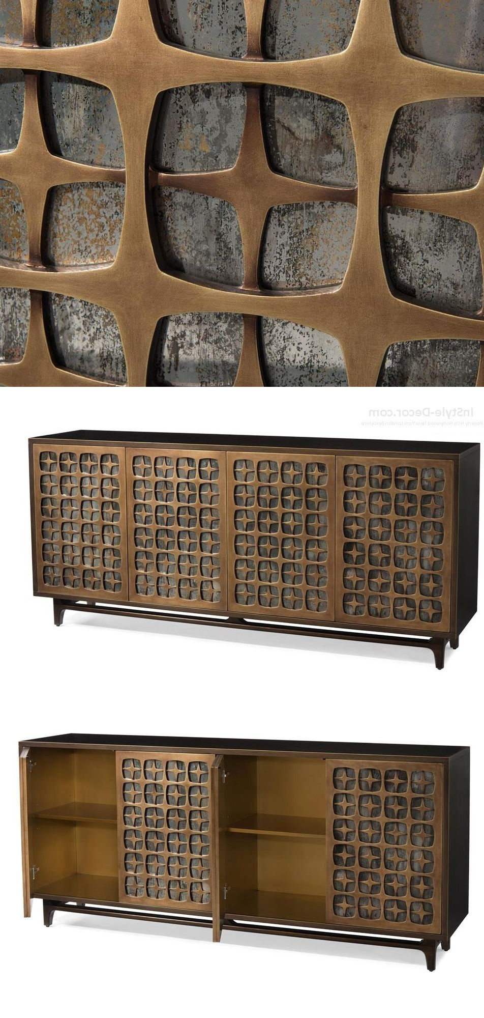 "Fashionable Burnt Oak Metal Sideboards Regarding Buffet"" ""Sideboard"" ""Credenza"" Designswww (View 17 of 20)"