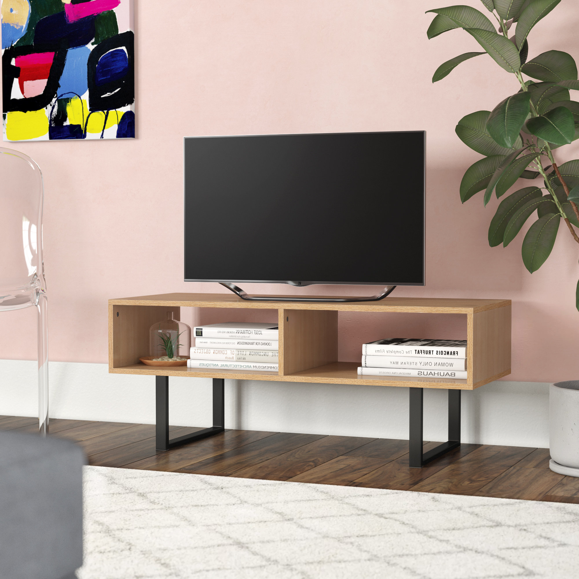Fashionable Casey Umber 54 Inch Tv Stands In Bookcase Tv Stand Combo (View 12 of 20)