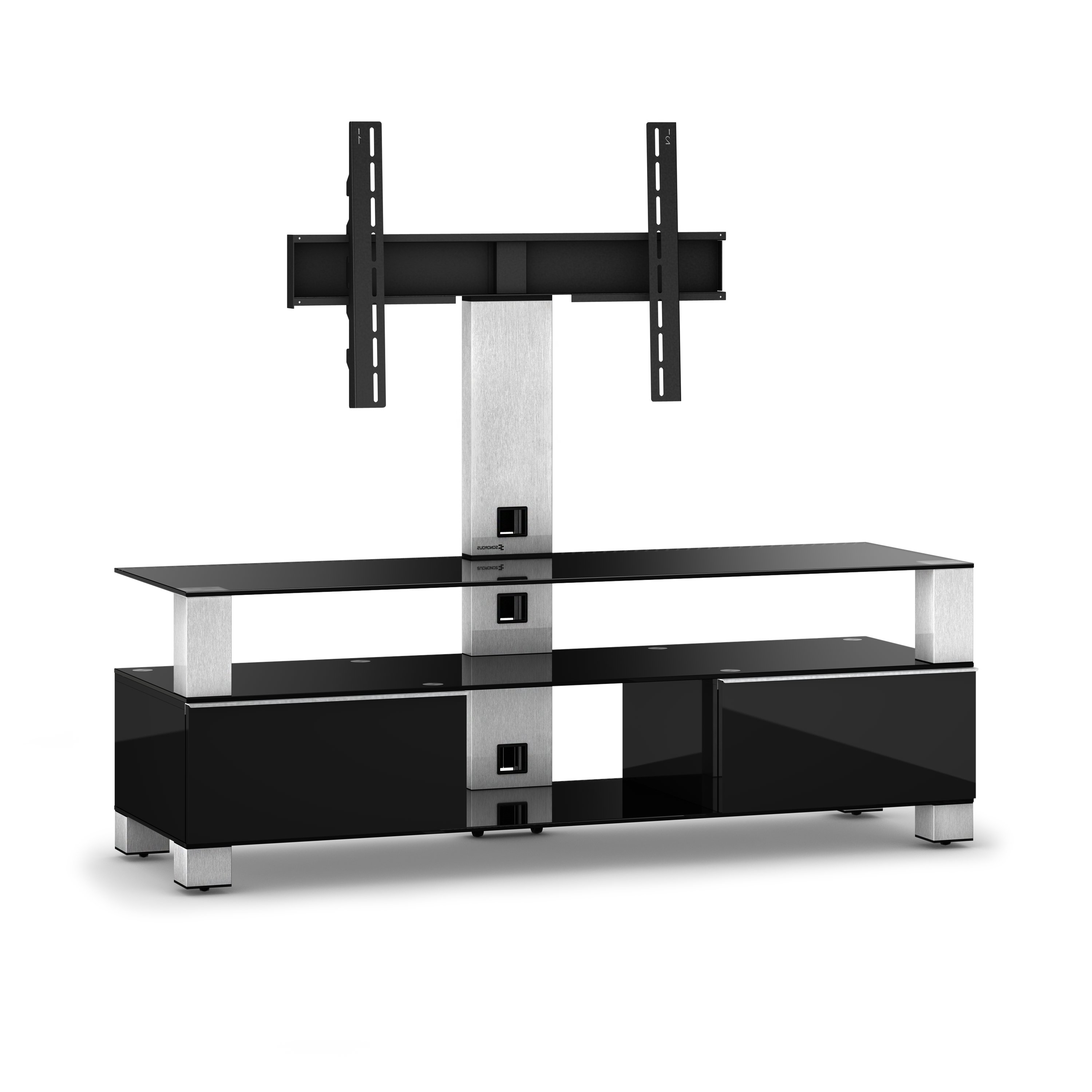 Fashionable Connected Essentials Ltd Cantilever Tv Stand For Tvs Up To 60 For Cantilever Glass Tv Stands (View 10 of 20)
