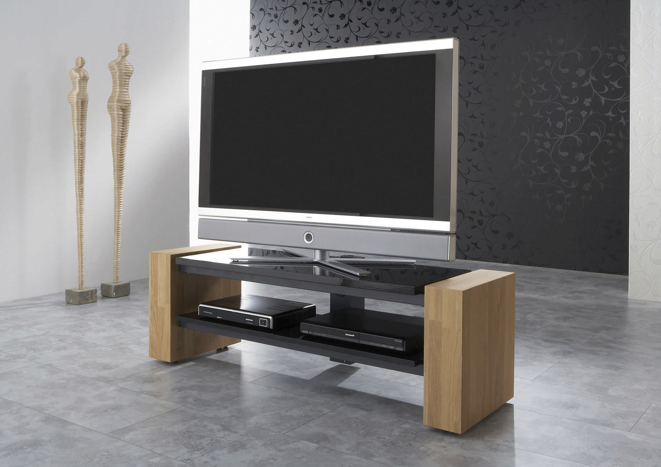 Fashionable Contemporary Tv Cabinets For Flat Screens Intended For Contemporary Tv Cabinet / With Screen Lift / Wooden / Lacquered Wood (Gallery 11 of 20)