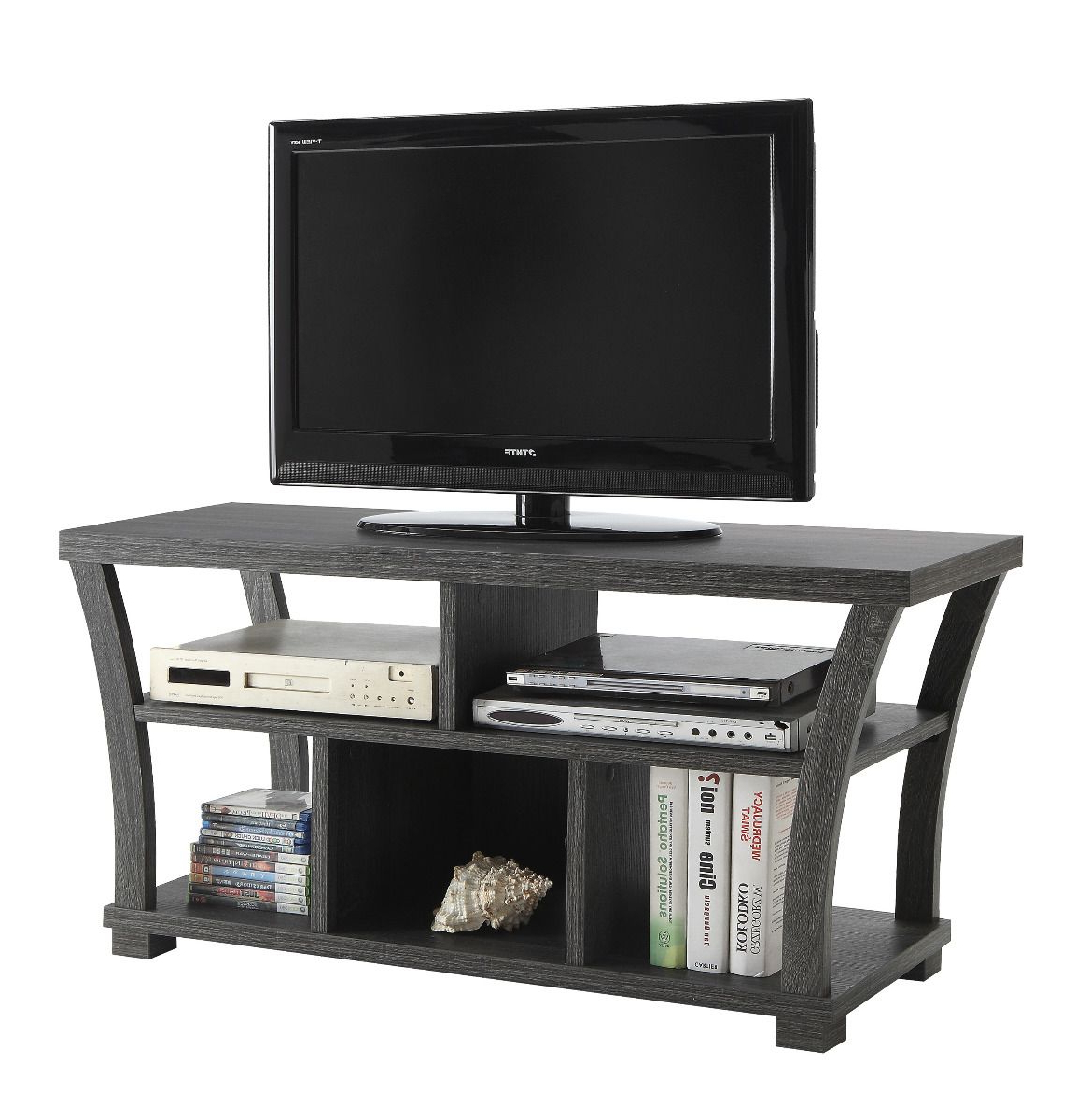 "Fashionable Crown Mark – 4806 Gy – Draper Grey Tv Stand (47"" W) For Grey Tv Stands (View 4 of 20)"