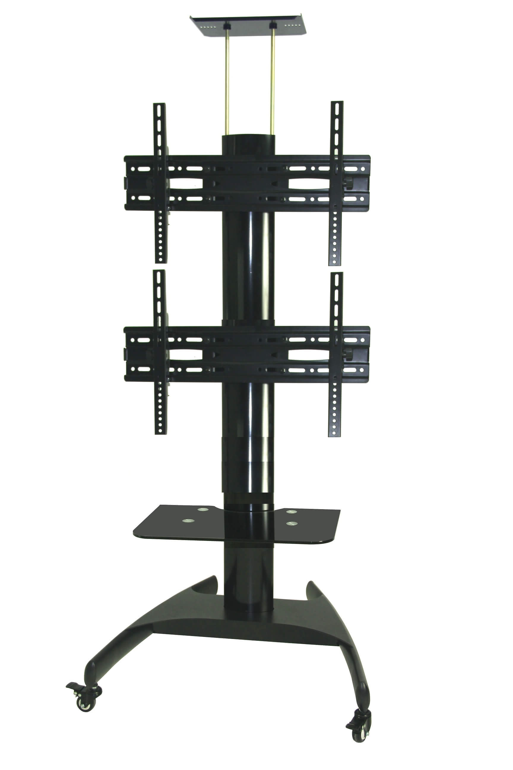 "Fashionable Dual Tv Stands Within T002C) Dual Tv Stand For Displays Up To 42"" Each – Tv Wall Mount (Gallery 1 of 20)"
