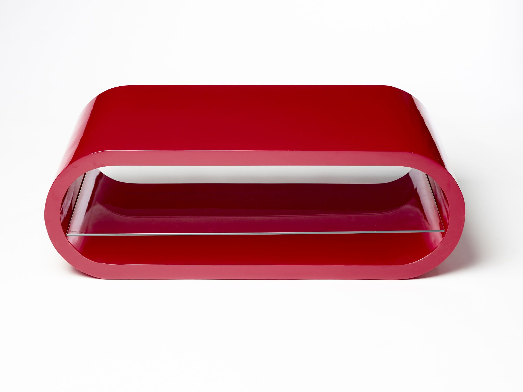 Fashionable Modern Designer High Gloss Oval Tv Stand Cabinet High Red Gloss Inside Red Modern Tv Stands (View 2 of 20)