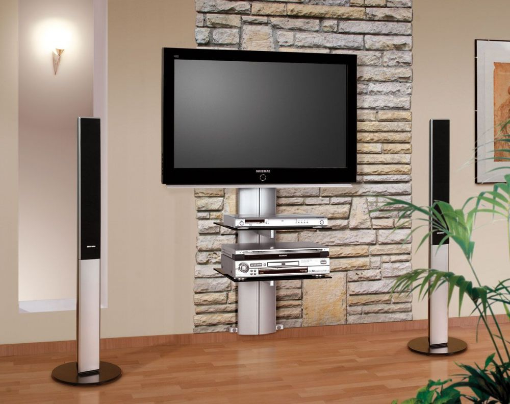 Fashionable Orion Wall Mounted Tv Stand With Bracket Regarding Wall Mounted Tv Stands With Shelves (View 11 of 20)
