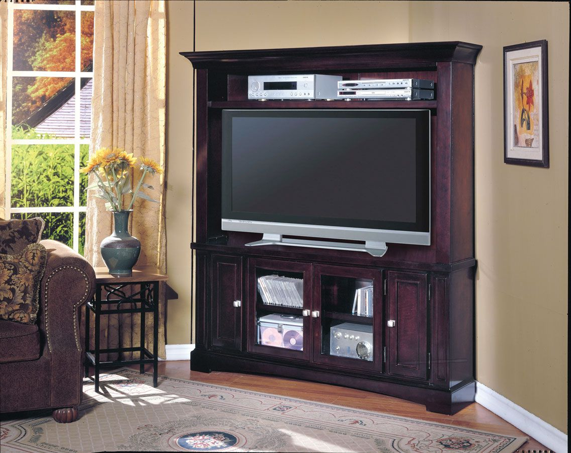 Fashionable Parker House Cherry Hill Lcd Plasma Tv Corner Wall Unit (View 9 of 20)