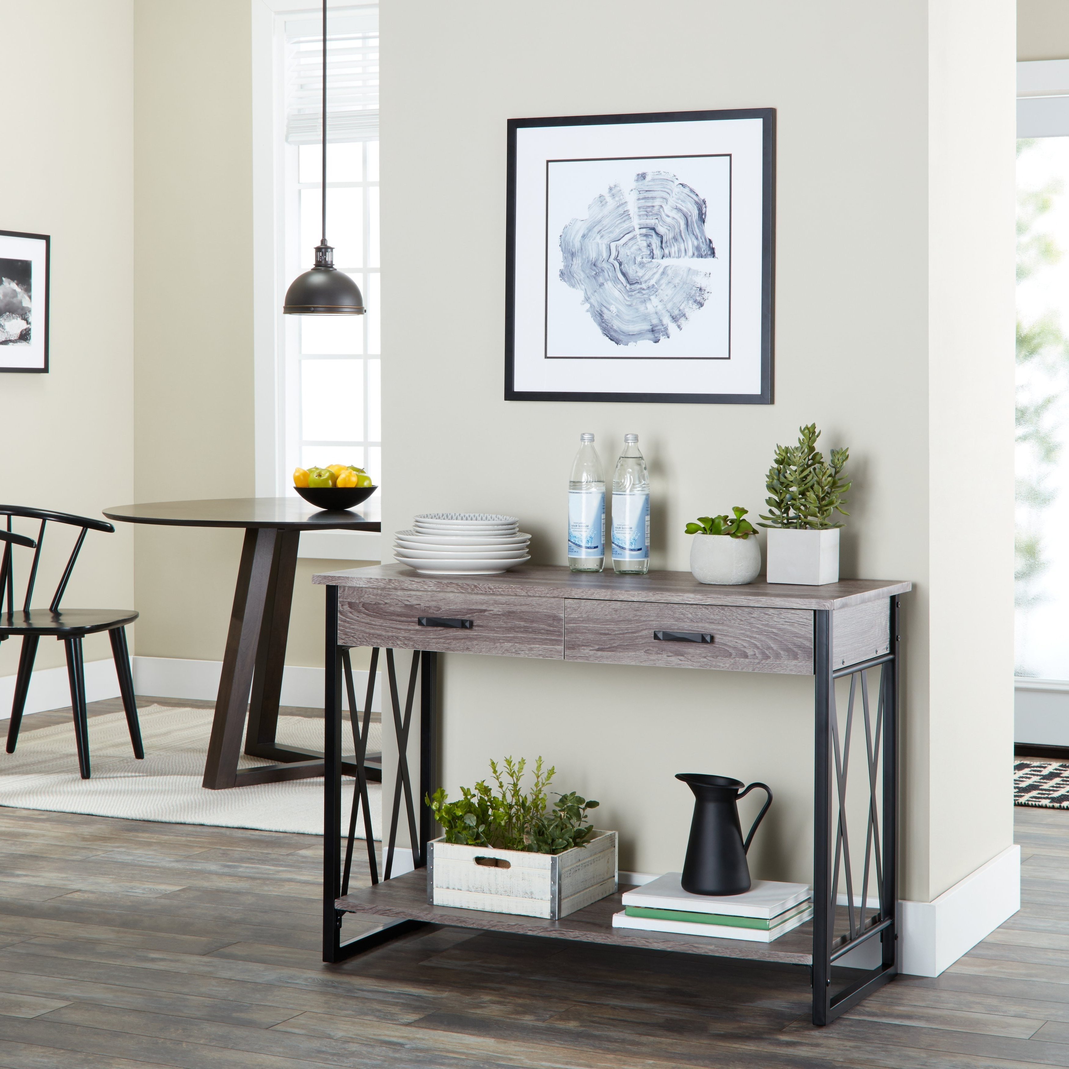 Fashionable Parsons Clear Glass Top & Brass Base 48X16 Console Tables With Shop Seneca Reclaimed Finish Sofa Table – Free Shipping Today (Gallery 17 of 20)