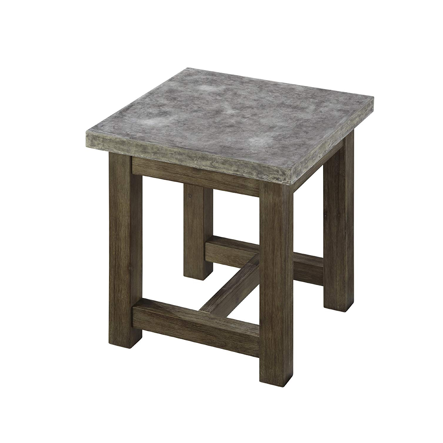 Fashionable Parsons Concrete Top & Brass Base 48x16 Console Tables Within Amazon: Home Styles Concrete Chic End Table: Kitchen & Dining (View 15 of 20)