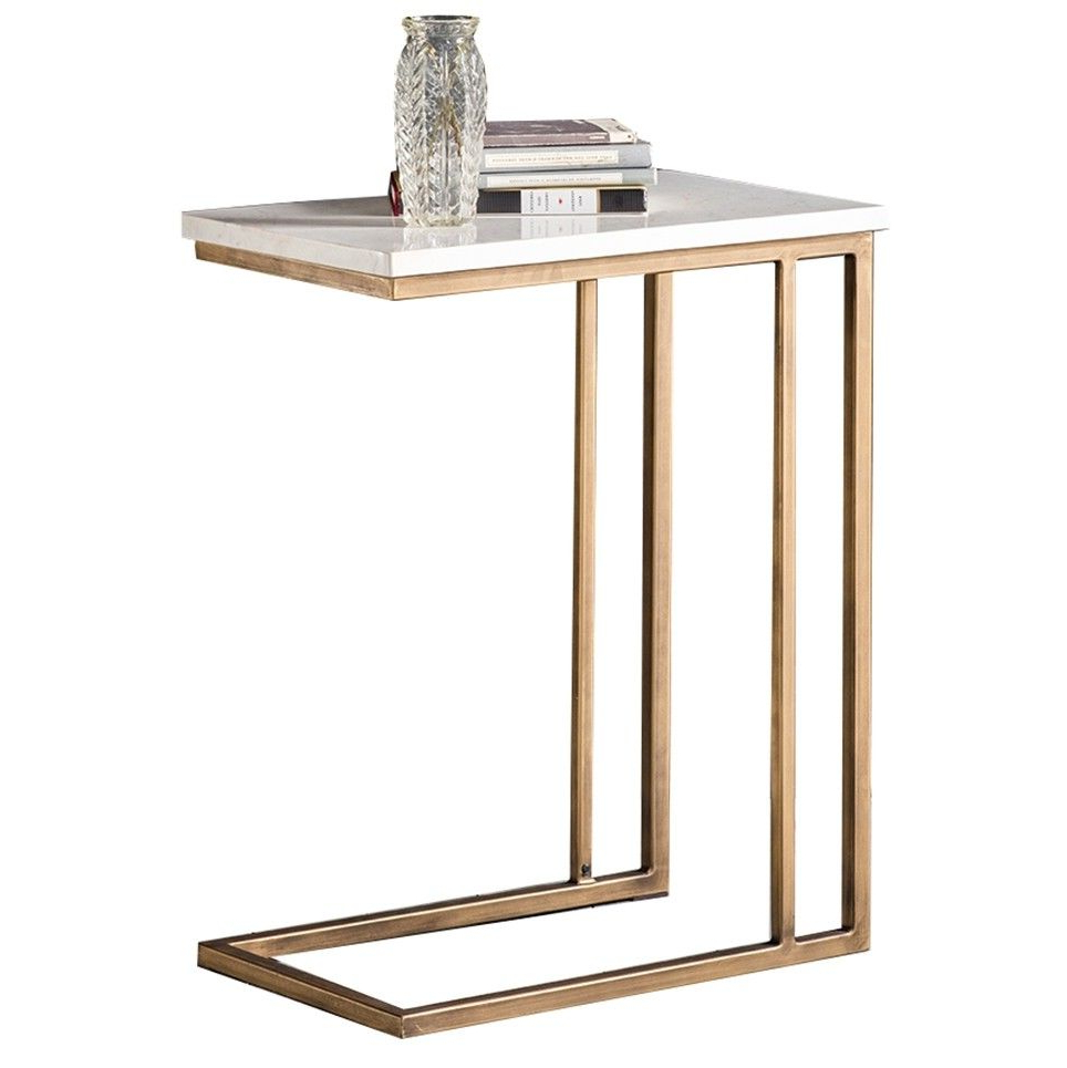 Fashionable Parsons Grey Solid Surface Top/ Brass Base 48x16 Console Regarding Parsons Clear Glass Top & Brass Base 48x16 Console Tables (View 10 of 20)