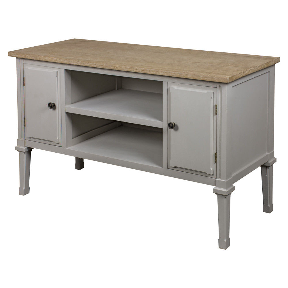 Fashionable Shabby Chic Tv Cabinets Inside Porto Grey Shabby Chic Tv Cabinet – Mulberry Moon (View 13 of 20)