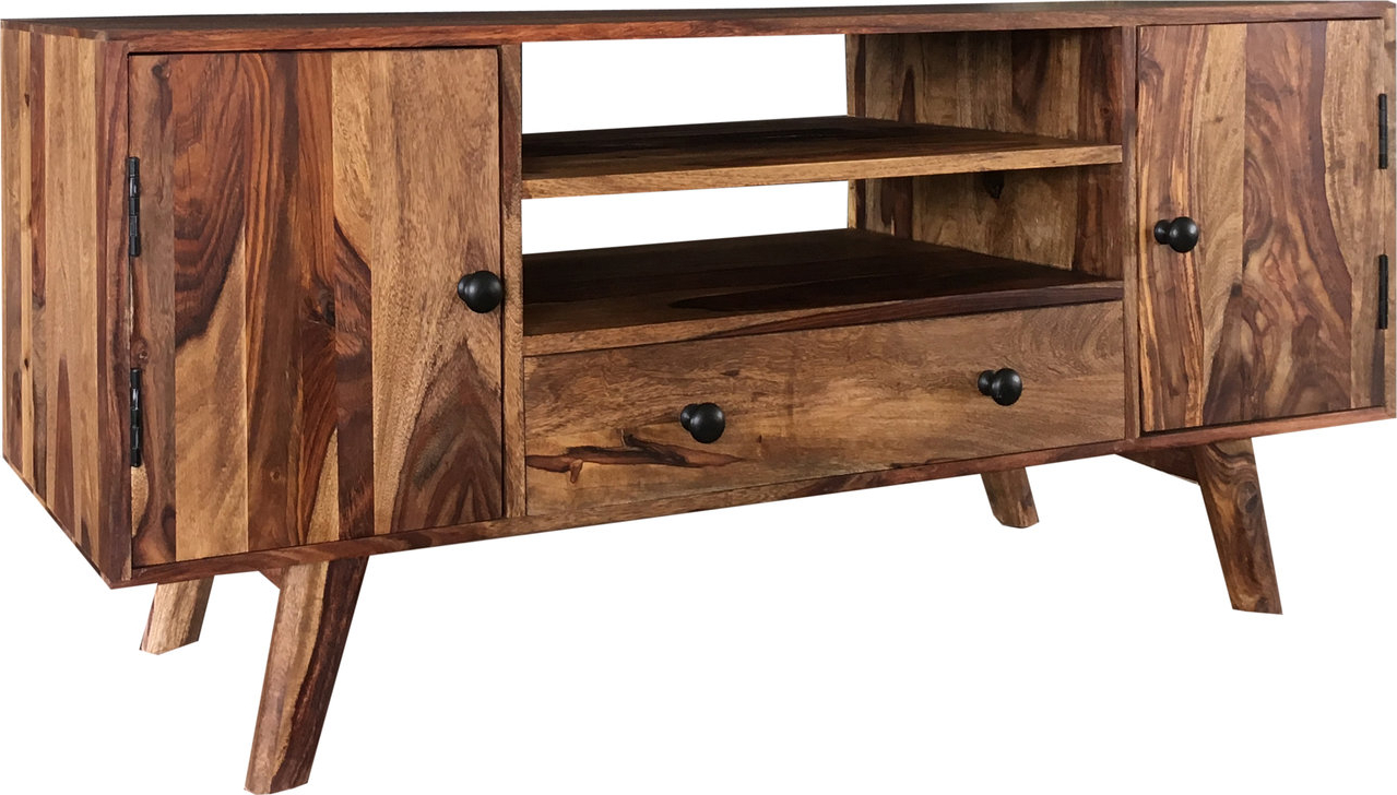Fashionable Sheesham Wood Tv Stands For Two Tone Sheesham Wood Plasma Tv Stand Media Unit (Gallery 8 of 20)