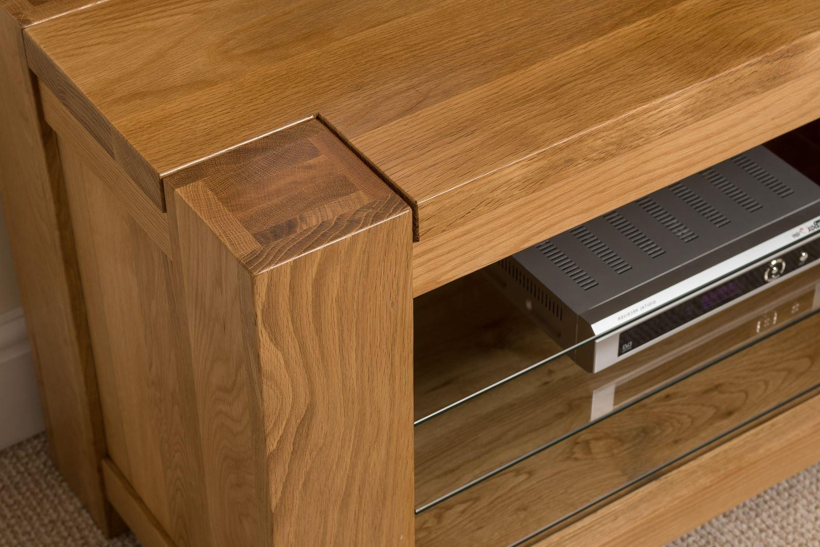 Fashionable Solid Oak Tv Stands Inside Solid Wood Media Cabinet Rustic Tv Stand With Mount Entertainment (View 6 of 20)