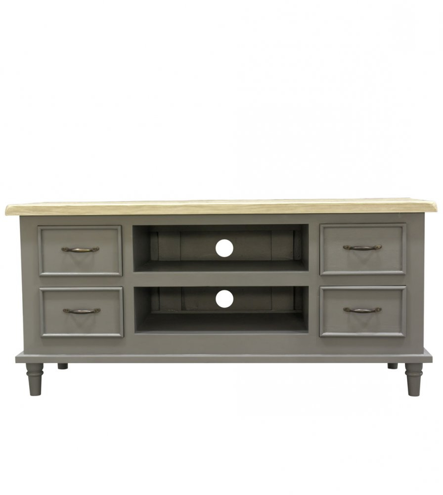 Fashionable Storage Solid Wood Grey Tv Unit Stand With Drawer And Shelf With Grey Corner Tv Stands (View 4 of 20)