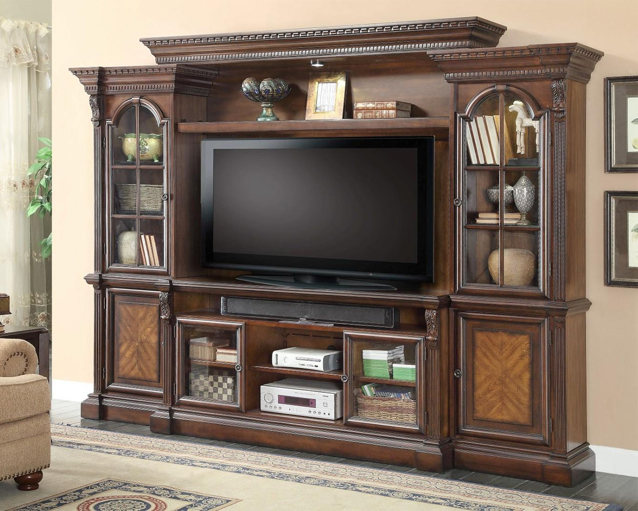 Fashionable Tv Entertainment Unit With Regard To Parker House 62In Tv Entertainment Center Wall Unit Marquis Ph Mar 100 4 (Gallery 17 of 20)