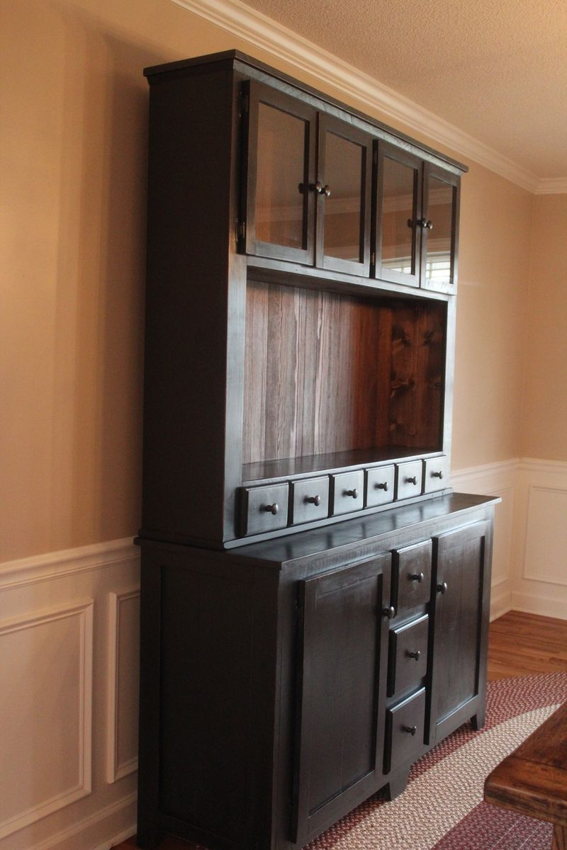 Fashionable Tv Hutch Cabinets With Regard To Handmade Custom Vanity / Sideboard / Tv Stand / Buffet / Hutch (Gallery 18 of 20)
