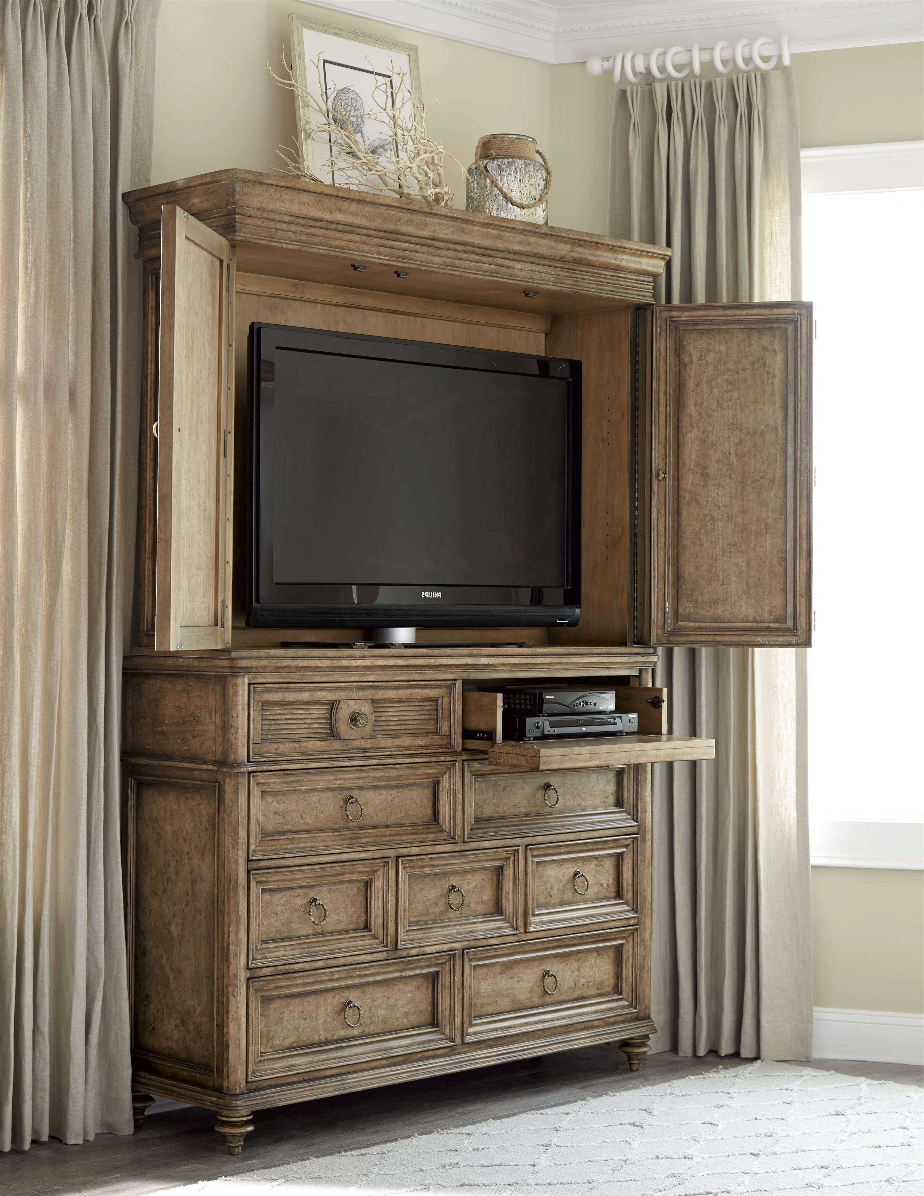 Fashionable Tv Hutch Cabinets Within This Grand Armoire Offers Great Style And Function To A Bedroom Or (Gallery 20 of 20)