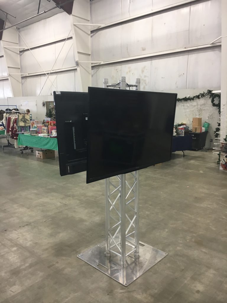 Fashionable Upright Tv Stands With Vancouver Truss Tv Stand Rental (Gallery 6 of 20)