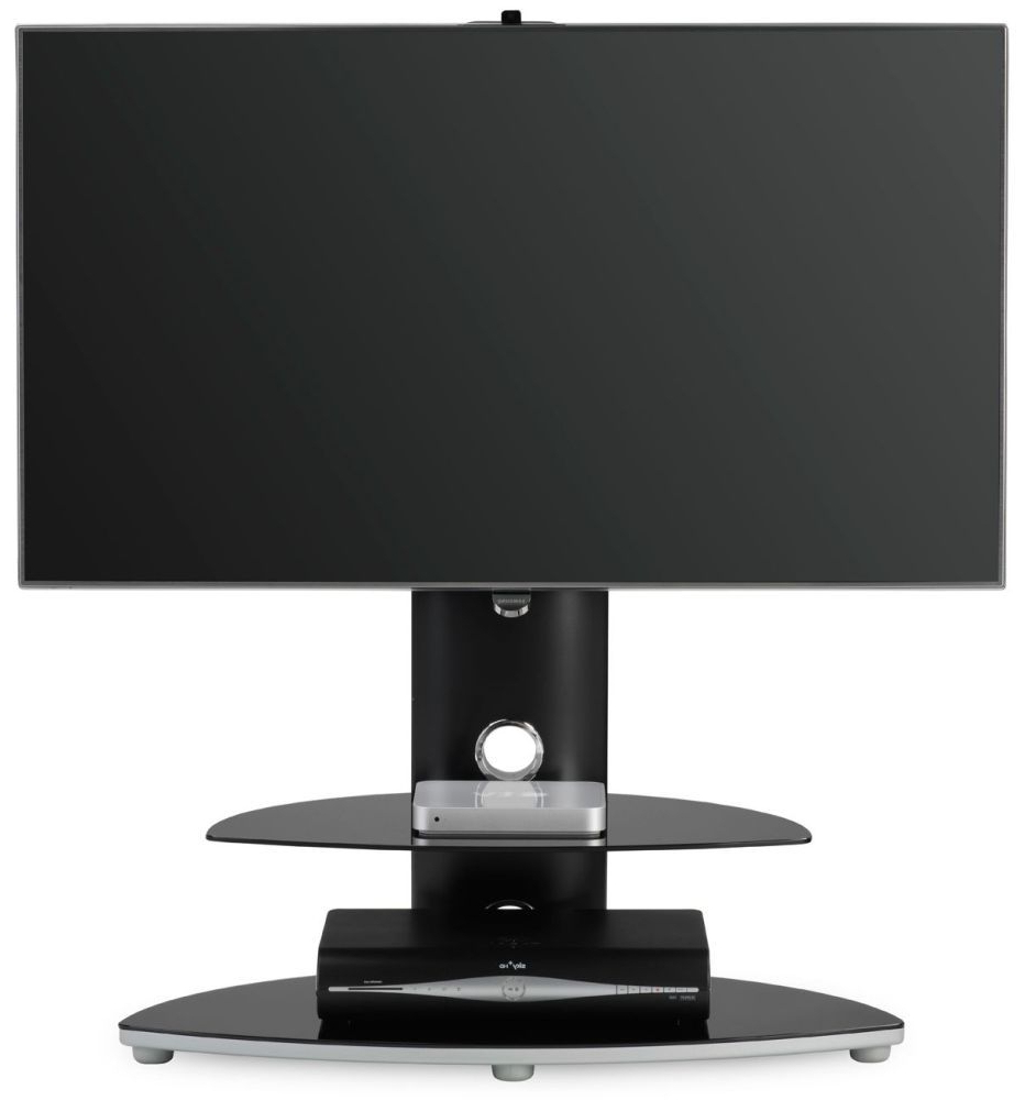 Fashionable White Cantilever Tv Stands Throughout Buy Alphason Osmium Black Chrome Cantilever Tv Stand For 32Inch (View 5 of 20)
