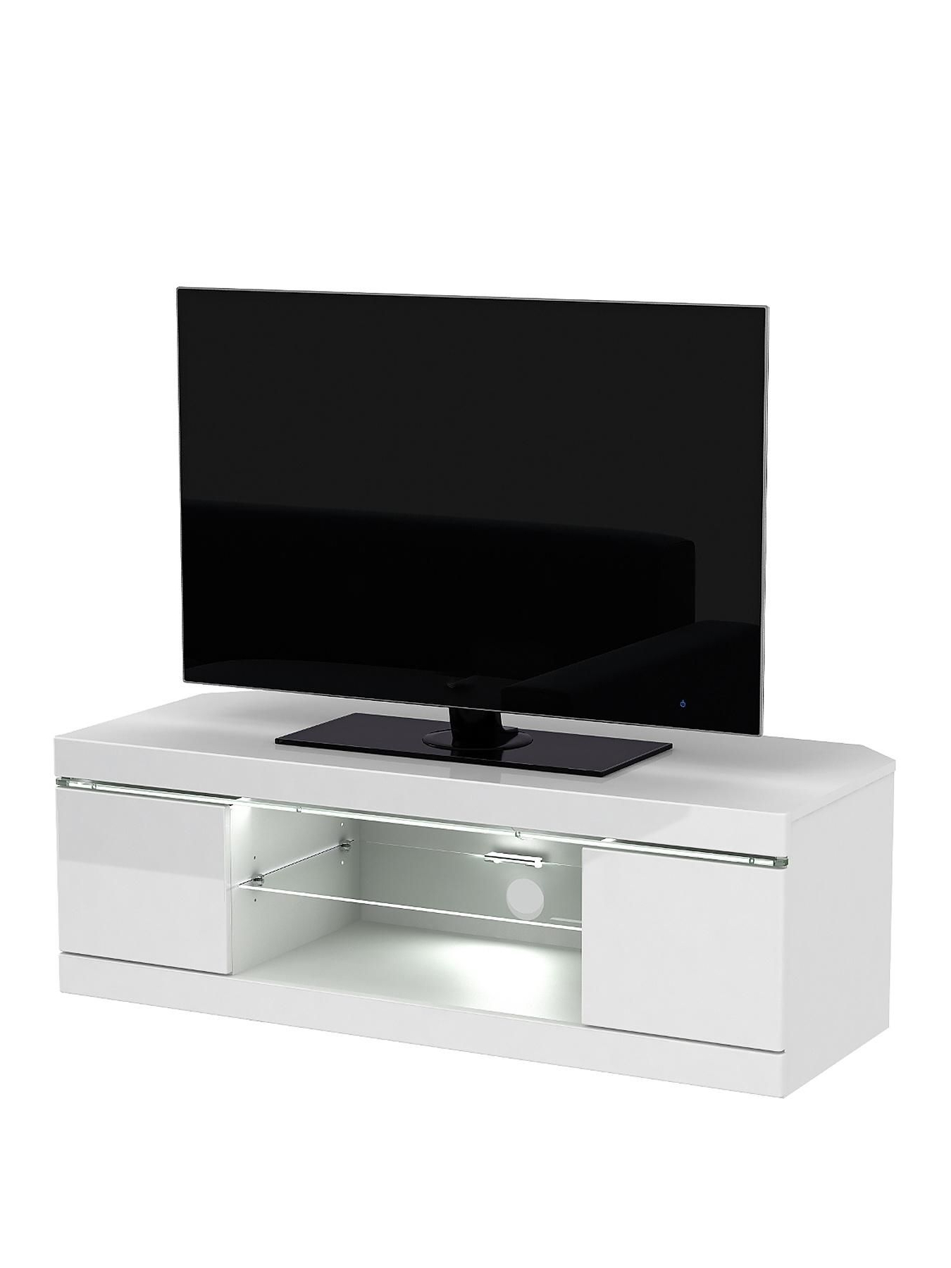 Fashionable White High Gloss Corner Tv Unit For Womens, Mens And Kids Fashion, Furniture, Electricals & More (Gallery 4 of 20)
