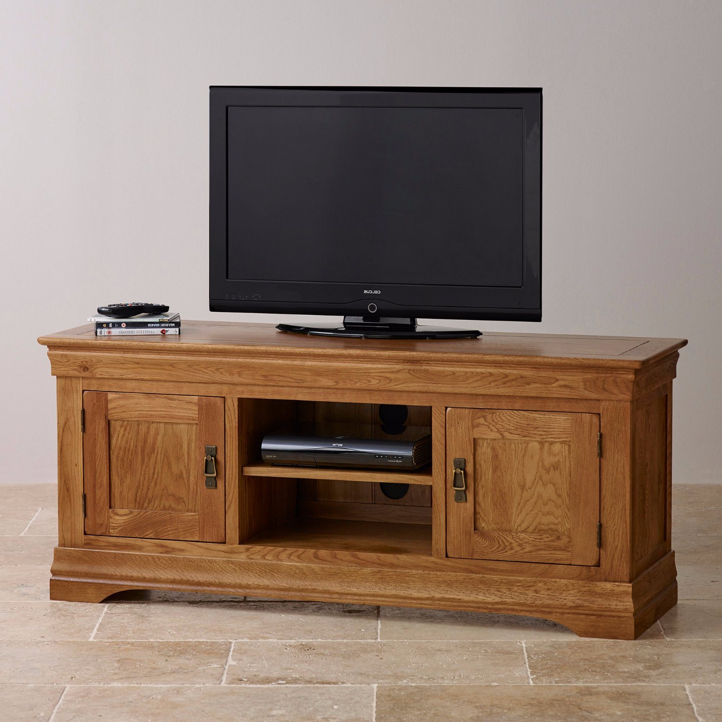Fashionable Wide Screen Tv Stands Throughout China Rustic Vintage Oak Solid Wood Wide Screen Tv Stand Cabinet (Gallery 5 of 20)