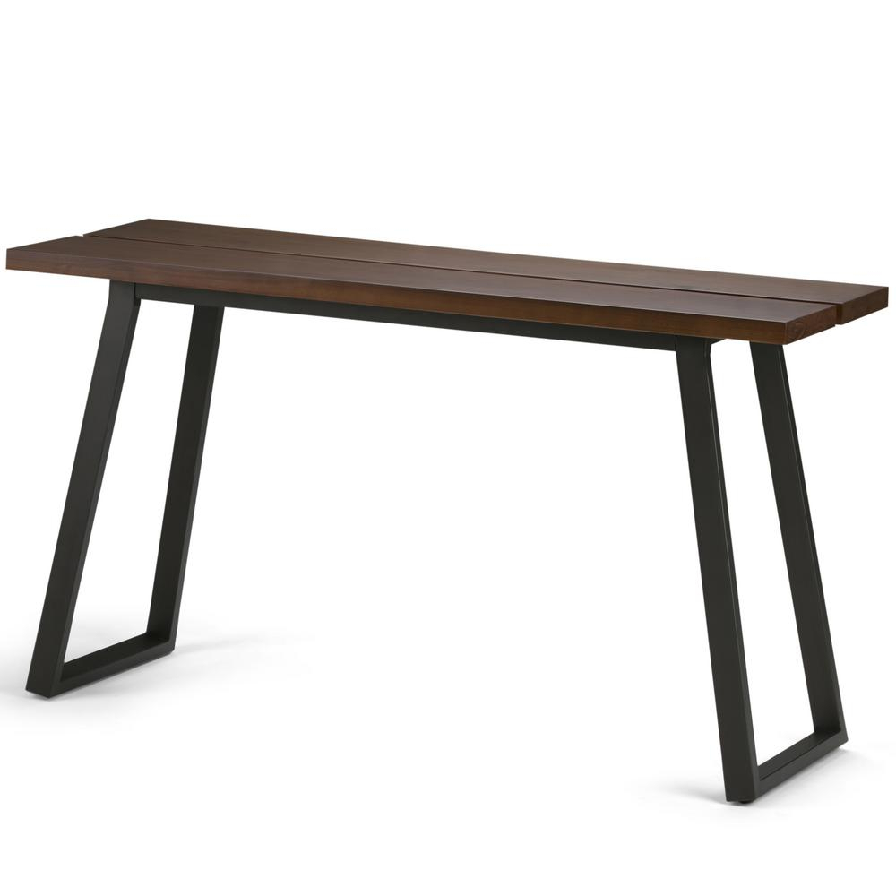 Fashionable Yukon Grey Console Tables With Simpli Home Adler Light Walnut Brown Console Table (View 15 of 20)