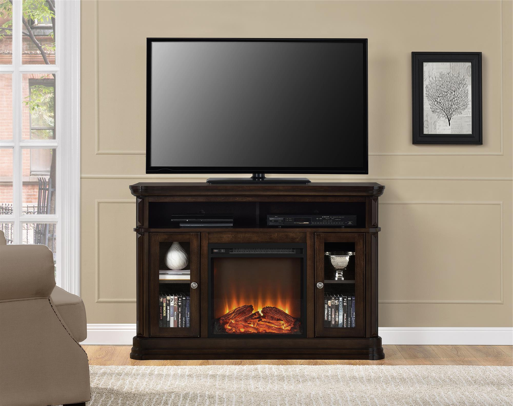 Favorite 50 Inch Fireplace Tv Stands Pertaining To Ameriwood Furniture (View 9 of 20)