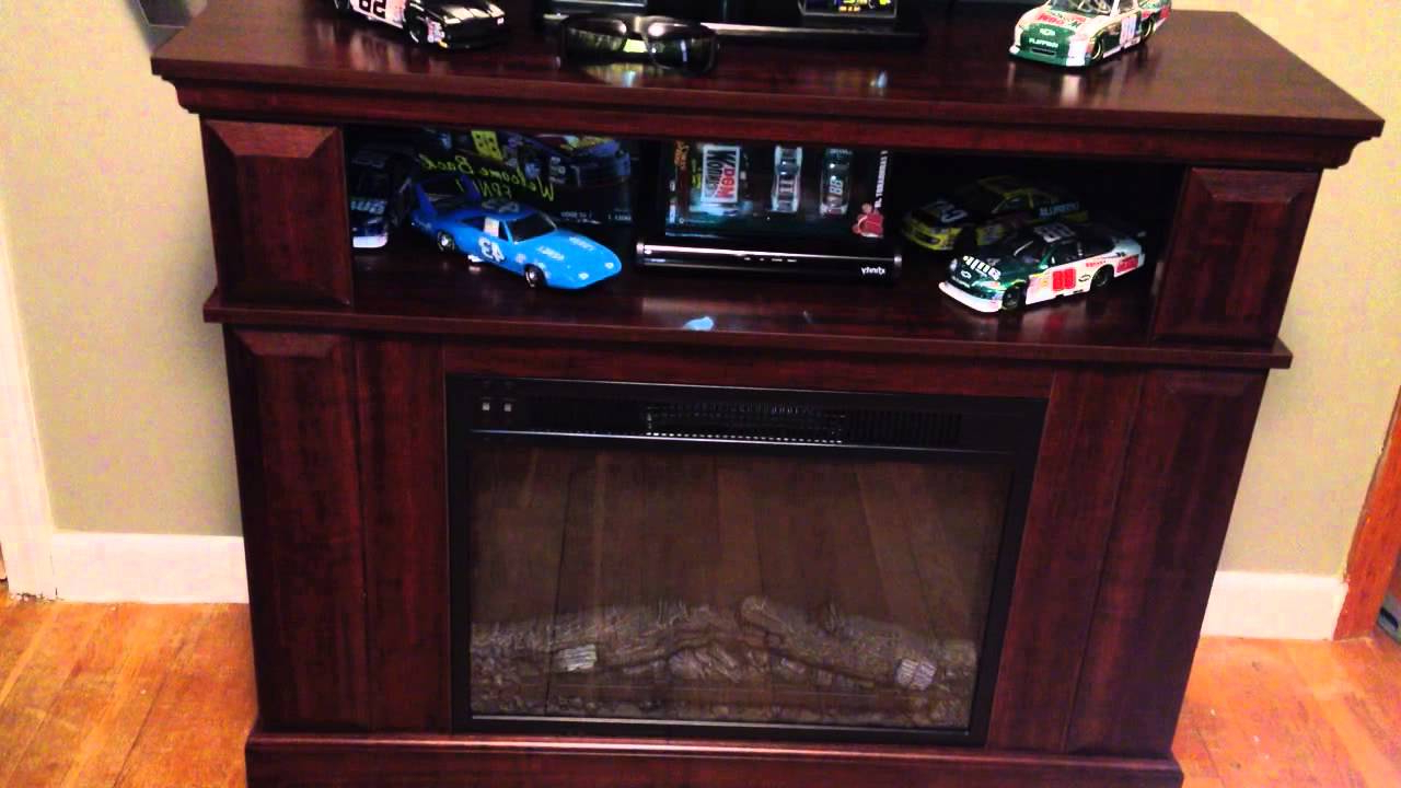 Favorite 50 Inch Fireplace Tv Stands Within Whalen Fireplace Console Tv Entertainment Center – Customer Review (View 10 of 20)