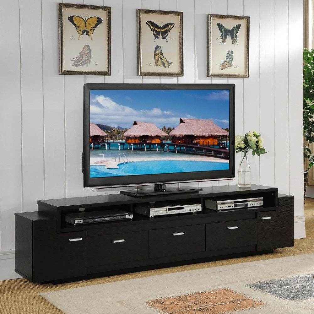 Favorite 84 Inch Tv Stands Within Furniture Of America 84 Inch Peyton Modern Tiered Tv Stand (View 12 of 20)